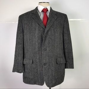 Brooks Brothers Gray Herringbone Tweed